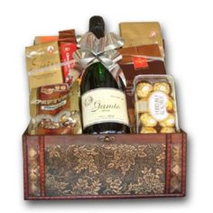 A Ravishing Success - USA. The wines and Chocolates speak for themselves. A unique gift basket filled with exquisite chocolates NOTE: We recognize that substitutions may be n. 21st Birthday Gifts, Birthday Gifts For Boyfriend, Boyfriend Gifts, Fathers Day Gifts, Flowers By Post, Flowers For You, Order Flowers, Send Flowers, Blooming Flowers