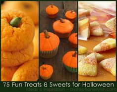 Halloween 'treats' go far beyond the bagged candy widely found in stores this time year- It seems as if a touch of festive whimsy can dress up just about any type of edible sweet. This weeks ideas & inspiration post highlights fun Halloween recipes forseventy-five festive treats n' sweets.Many of the treats listed below are …