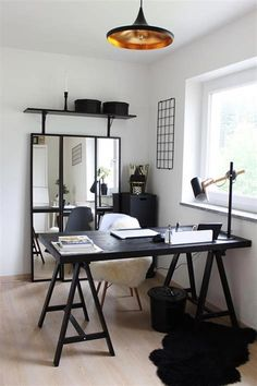 home office;home office ideas;home office decor;home office design;home office organization;home office ideas for women;work from home office;at home workouts;home office setup;home office design for men;at home workouts for women no equipment; Ikea Home Office, Home Office Space, Home Office Furniture, New Furniture, Office Decor, Office Setup, Furniture Websites, Pipe Furniture, Furniture Vintage