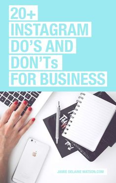 How to Use Instagram for Business: A List of DO'S and DON'TS for Instagram success! PLUS: Watch a FREE video tutorial on editing iPhone photos! http://jamiedelainewatson.com/how-to-use-instagram-for-business/