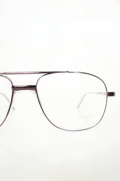 10f9379741 1980s Bronze Aviator Glasses Mens Eyeglasses Optical Frames Deadstock NOS  New Old Stock 80s Eighties Metallic Copper Sunglasses Sunnies