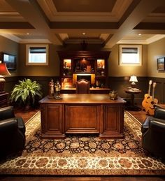 Traditional Home Office Ideas man's office design, pictures, remodel, decor and ideas | home