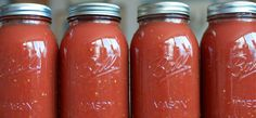 How to Make Home Canned Marinara Sauce. #canning #tutorial