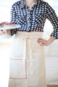 Raw Materials Design French Waiter Apron