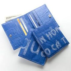 Recycled, Unique & Awesome!--No wallet has the same design because it's made from recycled rice bags.  This wallet supports and is made by Artisans' Association of Cambodia, an artisan's collective working with Cambodia's most marginalized communities, including poor women and people disabled by landmines or polio.