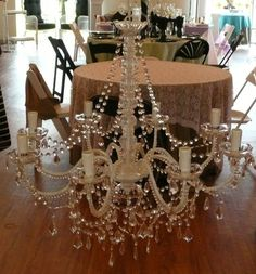 If you want your wedding day to be elegant and romantic, check out these chandeliers from Art Pancake's Party and Wedding Rentals! You can get them in multiple sizes too! Click the image to learn more. Photo credit: Art Pancake's Party and Wedding Rentals Facebook page