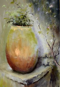 Painting Still Life, Still Life Art, Watercolour Painting, Watercolor Flowers, Diy Garden Fountains, Acrylic Painting Techniques, Pastel Art, Acrylic Art, Flower Art