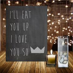 Where The Wild Things Are, Boys Bedroom, I'll Eat You Up I Love You So, Max Crown, Instant Download, Digital Print, 8x10, Boys Nursery on Etsy, $3.00