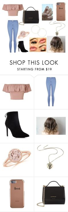 """Sem título #314"" by agatha-silveira on Polyvore featuring beleza, Miss Selfridge, New Look, Charles David, Harrods e Givenchy"