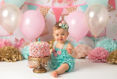 Baby first birthday pictures backgrounds 49 ideas 1st Birthday Photoshoot, 1st Birthday Party For Girls, 1st Birthday Cake Smash, Birthday Gifts, Cake Smash Photography, Birthday Photography, Photography Backdrops, Themed Photography, Wedding Photography
