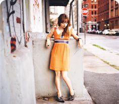 ◒ Zoe Kazan ◒ Dress by Philosophy di Alberta Ferretti ◒ Shoes by Miu Miu ◒