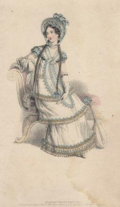 Spanish fancy dress for September, 1819 UK,La Belle Assemblée