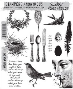 Tim Holtz Cling Rubber Stamps 2014 NATURE WALK cms181