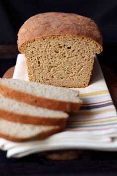 This Gluten-free Sandwich Bread from the America's Test Kitchen - How Can it Be Gluten-free Cookbook is LIFE CHANGING!! For epic results make their flour blend!