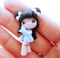 1 Kokeshi Japan Doll chibi necklace made in italy polymerclay via Etsy