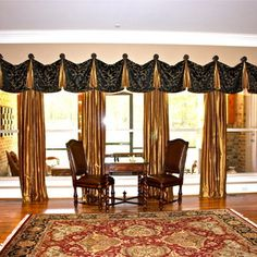 by Jacquelyn Weber of Hanging in Style Designs. Window Treatments, Valance Curtains, Windows, Traditional, Sewing, Pattern, Room, Fashion Design, Home Decor