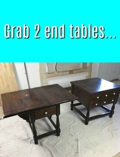 Two End Tables = One Storage Cabinet. #diy #furniture