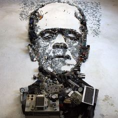 Artist Christian Pierini Creates Fantastic and Detailed Portraits Using Instruments and Objects