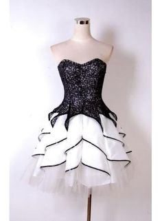 Black and white homecoming dresses,Sweetheart neck little white dresses,sweet 16 dresses · DidoPromCouture · Online Store Powered by Storenvy Simple Homecoming Dresses, Unique Prom Dresses, Sweet 16 Dresses, Backless Prom Dresses, Little White Dresses, Dresses For Teens, Pretty Dresses, Short Dresses, Dress Prom
