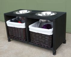 Elevated Dog Feeding and Food Storage Station