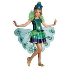 Girls Peacock Costume for Halloween