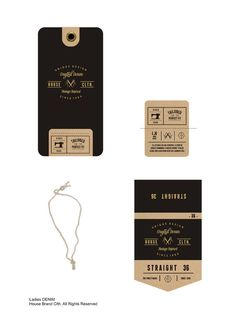 Denim Swing Tag//part 2 on Behance Tag Design, Label Design, Packaging Design, Branding Design, Logo Cookies, Simple Business Cards, Swing Tags, Clothing Tags, Paper Tags