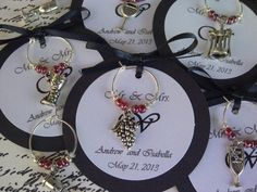 50 Custom Wine Themed Wine Charm Favors by FromAppalachia on Etsy