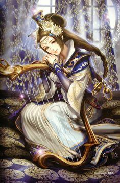 dynasty warriors anime | Tags: Anime, Midori Foo, Koei, Dynasty Warriors, Cai Wenji, Harp