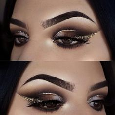 37 Easy Steps Makeup For Beginners To Make You Look Great - Beauty Makeup Ideas - Make Up Makeup Eye Looks, Eye Makeup Art, Smokey Eye Makeup, Eyeshadow Makeup, Beauty Makeup, Eyeshadow Ideas, Gold Makeup, Prom Makeup, Eyeshadow Palette