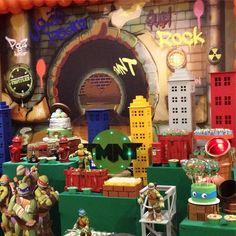 Ninja Turtle Birthday, Ninja Turtle Party, 4th Birthday Parties, 3rd Birthday, Ninja Turtle Decorations, Turtle Time, Ninja Party, Teenage Mutant Ninja Turtles, Party Time