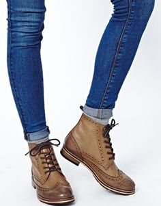 bottines asos marron
