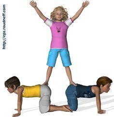 Yoga For Preschool Age - Zirkus Kindergarten Pe Activities, Fitness Activities, Yoga For Kids, Exercise For Kids, Toddler Yoga, Yoga Books, Preschool Age, Dance Photos, Yoga Routine