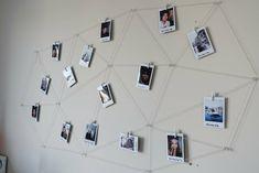 polaroid-fotos-deko-geometrisch-muster-netz-garn-diy polaroid-fotos-deko-geometrisch-muster-netz-garn-diy The post polaroid-fotos-deko-geometrisch-muster-netz-garn-diy appeared first on Fotowand ideen. Polaroid Collage, Polaroid Display, Photo Polaroid, Polaroid Wall, Wall Collage, Polaroid Ideas, Polaroid Pictures, Polaroids, Instax Wall