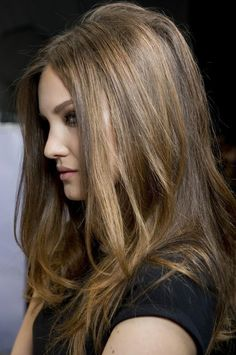 Great hair color and highlights for brown hair. Love Hair, Great Hair, Gorgeous Hair, Dorothy Hamill, Diy Beauté, Hair Romance, Corte Y Color, Light Brown Hair, Hair Photo
