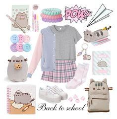 """""""#PVxPusheen"""" by probno ❤ liked on Polyvore featuring Pusheen, Jeffrey Campbell, Plane, Monki, Hue and H&M"""