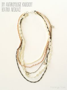 DIY Anthropologie Knockoff Beatrix Necklace |Flamingo Toes