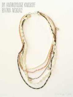 DIY Anthropologie Knockoff Beatrix Necklace  Flamingo Toes