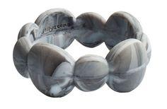 Jellystone Pebble Bangle -  STORMY GREY MARBLE