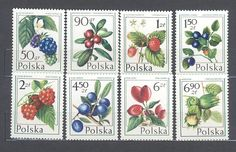 Poland 1977 MNH Set 8 stamps Fruits of Forest's Plants
