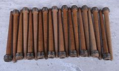 10 x Vintage Wooden Spool//Bobbin Quills From Old Mill