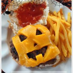 Halloween Jack-O-Lantern Ranch Burgers