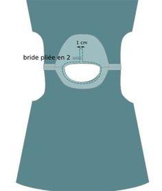 Robe chasuble 3 mois à 2 ans, Patron couture gratuit