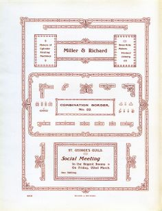 Todos os tamanhos | Miller and Richard Combination Border Type Specimen | Flickr – Compartilhamento de fotos!