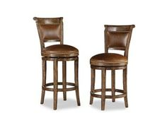 Shop for Chaddock Country English Swivel Barstool, CE1942, and other Bar and Game Room Stools at Chaddock in Morganton, NC. Both Heights Shown.