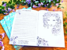 3 in 1: My Colouring Art Journal & Diary - In the Heart of My Garden - Great Gift - w/ Affirmations
