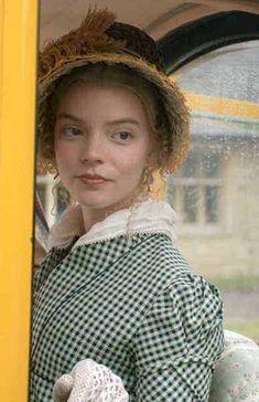Jane Austen Movies, Emma Jane Austen, British Actresses, Actors & Actresses, Emma Movie, Emma Woodhouse, Anya Taylor Joy, Period Dramas, Fashion Plates