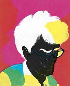 Illustration by Daniel Stolle of John Hegarty for Bill Magazine