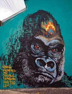 Gorilla http://graffitiart.us/wp-content/uploads/2013/11/Gorilla.jpg #Graffiti http://graffitiart.us/gorilla/