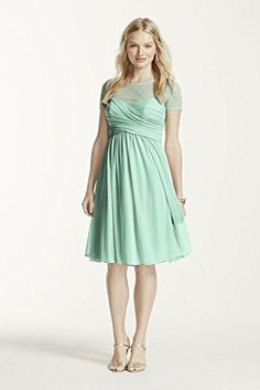 Illusion Short Sleeve Mesh Bridesmaid Dress Style F15911, Mint, 0 David's Bridal http://www.amazon.com/dp/B00QX5UOY8/ref=cm_sw_r_pi_dp_Ymh.wb07RQC15