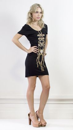 Black mini dress by Mad love  #halcyonstate